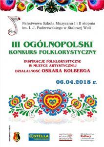 III ogólnopolski Konkurs - Oskar Kolberg