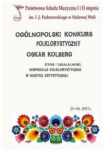 Ogólnopolski Konkurs Folklorystyczny Oskar Kolberg 28.04.2017