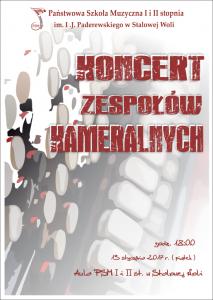 Koncert Zespołów Kameralny 13.01.2017