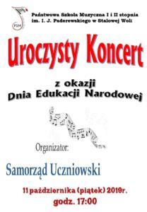 Koncert z okazji Dnia Edukacji Narodowej